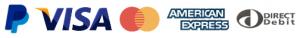 paypal visa mastercard amex direct debit payment methods